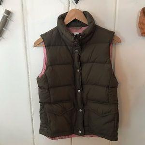 J crew • brown puffer vest